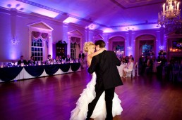 Purple Uplighting at Wedding first dance