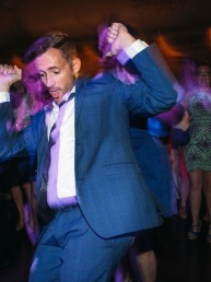 Groom Dancing to Detroit Wedding DJ provided by Love Plus One
